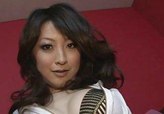 Brunette Asian girl Asuka Mimi fondled and fucked hard - 8 min