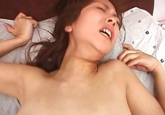 Cute petite Asian babe blowing cock and fucking like a slut - 8 min