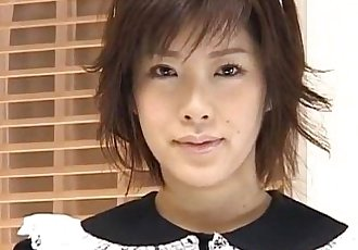 Kasumi Uehara maid is fucked with vibrator - 10 min