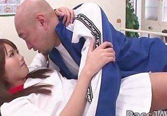 Innocent looking Suzu Minamoto with her favorite gym teacher. - 5 min