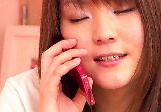Japanese girl having phone sex - 10 min
