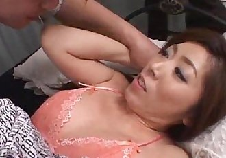 Japanese AV Model gets several cocks to play with - 10 min