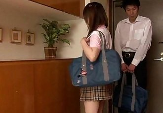 Japanese schoolgirl fucking her study partner - 8 min HD