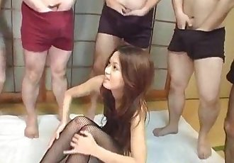 Kaoru has pussy teased with vibrators in hot group session - 10 min