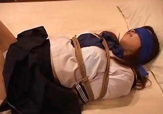 Asian school girl gets tied up for a bdsm surprise - 8 min