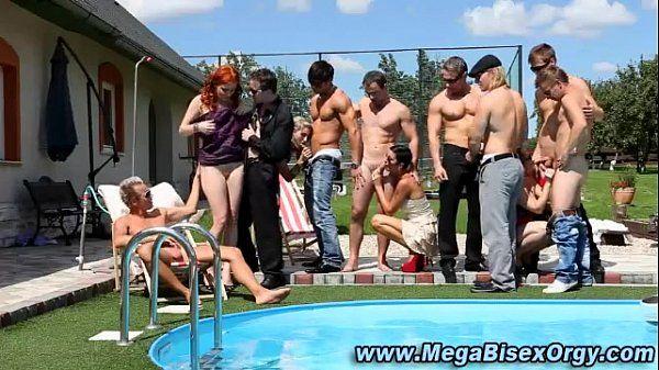 Naughty bisex orgy hunks and sluts