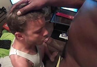 Hot Blonde suck black cock