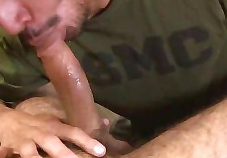 Straight Military Sucks Puerto Rican Cock