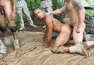 Gay army men fucking for pay and military hairy gay Jungle smash fest