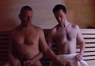 Stepdad Fucks Stepson in Sauna Bareback - Mature Older Younger