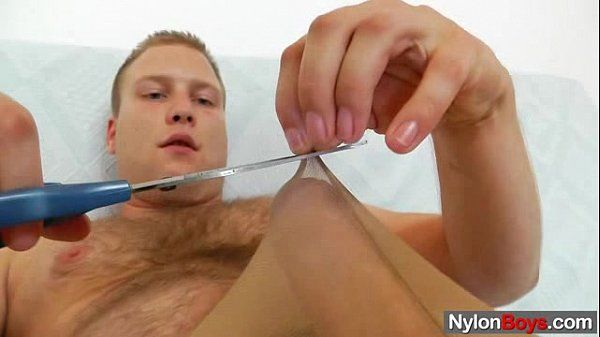 Gay teddy bear does a solo in nylon hose
