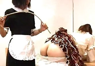 008 Caned by Maid - 4 min