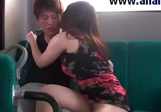 Asian teen fucked in bus and gets cumshot - 5 min