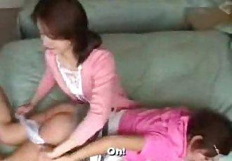 098 Spanking Schoolgirl in Moms Bedroom - 5 min