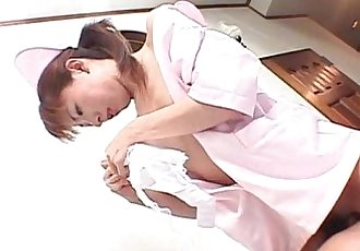 Turned on jap nurse juicy twat licked and finger teased - 5 min