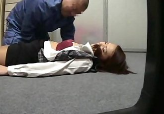 Businesswoman fucked by ugly fat janitor - 8 min
