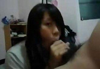 cute girlfriend sucking cumswallow - 2 min