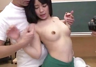 Ruka gets jizzed on face during classroom oral - 8 min