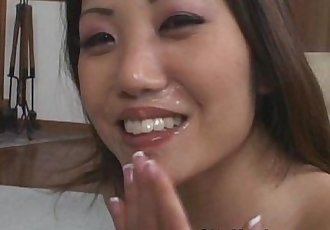 Naughty Asian Loves Cum On Her Mouth - 10 min