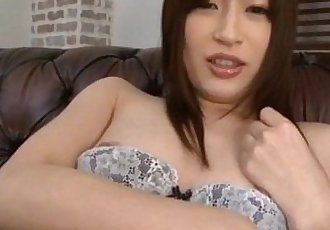 Riko Oshima in long socks has shaved pussy - 10 min