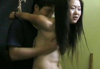 Asian teen gets groped and poked by her nerdy master - 8 min