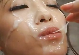 long tongue japanese bukkake Shizuka Kanno - 59 sec
