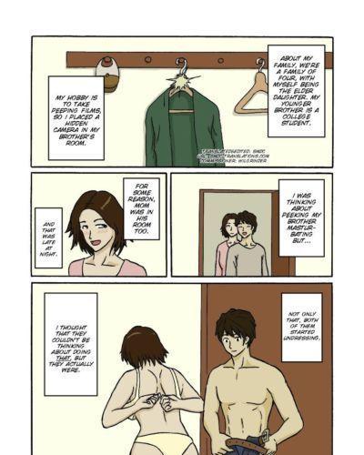 Espionnage sur maman et Frère Hentai