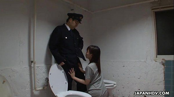 Asian prisoner sucking off the guard\