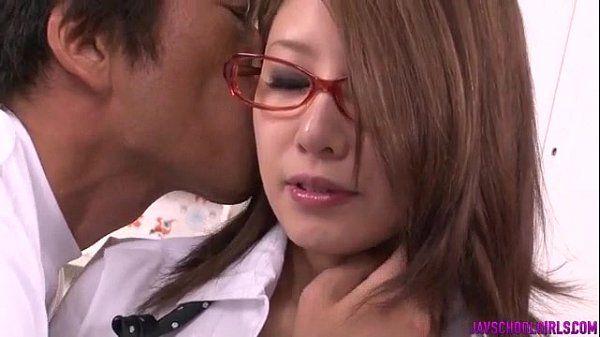 Mariru Amamiya pleases her needs with a good school fuck