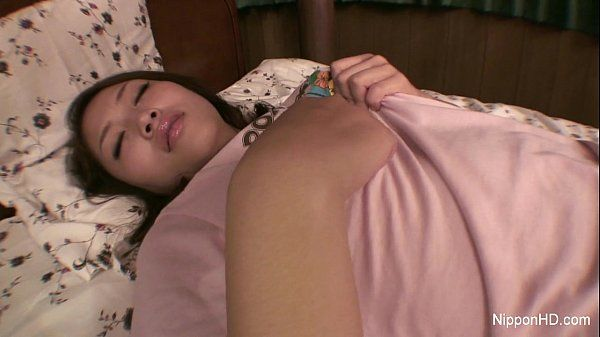 Asian girl plays with herself HD