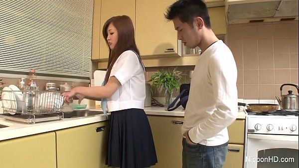 Sweet schoolgirl sucks cock HD