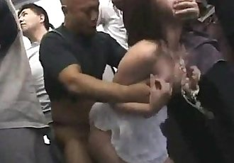 Japanese schoogirl gangbanged in the subway - TEENCAM777.COM - 5 min