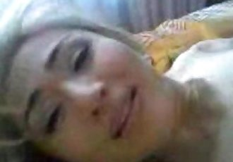 Young Kazakh girl and her colleague had weekend sex at home - 6 min