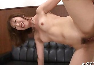 Coarse anal riding from cute oriental - 5 min