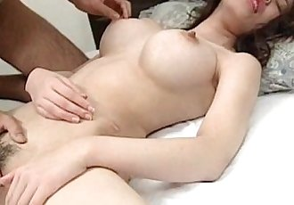 Erotic Japanese girlfriend boob sucked and twat fingered - 5 min