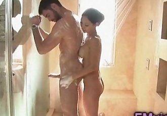 Tia Ling bathroom handjob - 5 min
