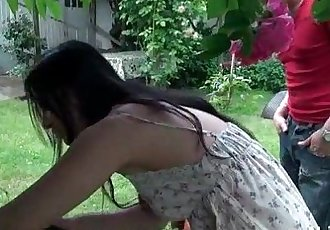 Asian french emo girl gets ass fucked outdoor - 6 min