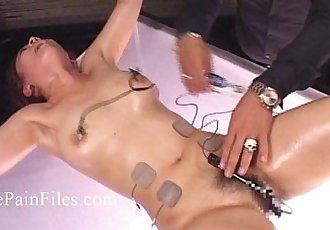 Japanese electro bdsm and extreme asian bondage of punished oriental slaveslut - 7 min HD