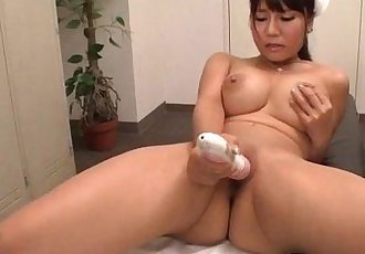Yu Shinohara fucked with toys and jizzed on her mouth - 12 min