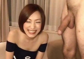 Nene Iino throats big cock until exhaustion - 10 min