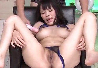 Big tits Kyouko Maki enjoys toy porn along her man - 12 min