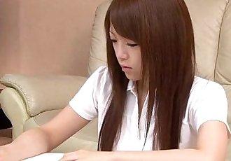 Nazuna Otoi rubbing her wet cunt with a sex toy - 1 min 1 sec