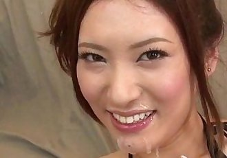Yui Kasuga fucked with toys and jizzed on face - 12 min