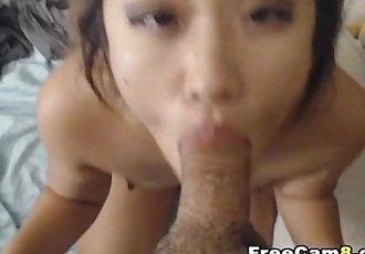 Hot Korean Babe Shows Talent on Sucking Cock - 11 min