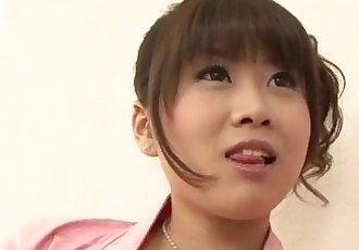 Ririka Suzuki needy milf kneels in front of a big cock - 12 min