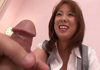 Asian MILF mature riding cock after BJ - 6 min