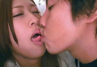 Asian bitch getting her tongue sucked by her man - 56 sec