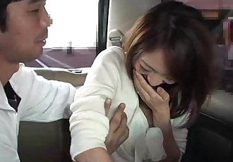 Slut getting her wet pussy toy fucked in the cab - 1 min 1 sec