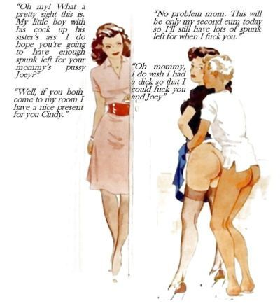 Vintage Art with Incest Captions