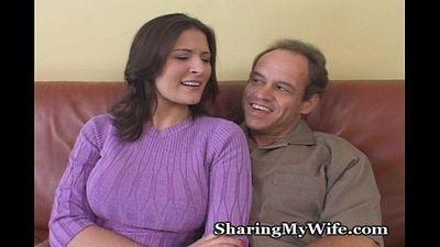 Sissy Hubby Has Hot Wife - 5 min